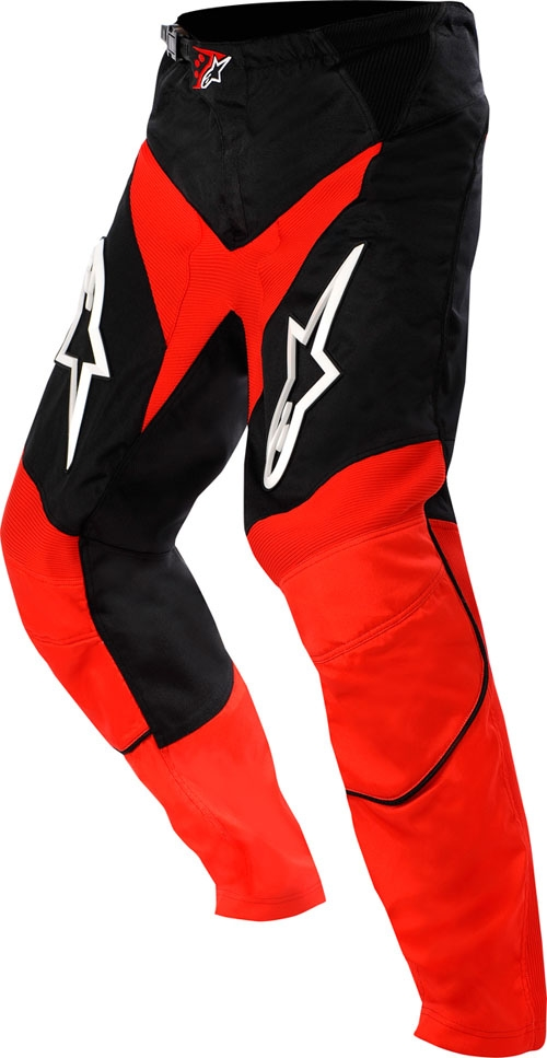 Pantaloni cross Alpinestars Racer rosso-nero-bianco
