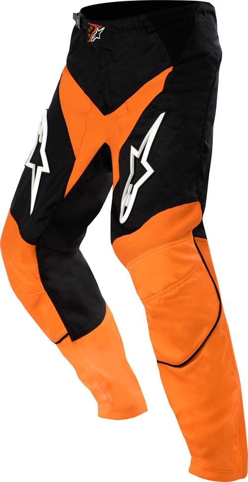 Pantaloni cross Alpinestars Racer arancio-nero-bianco