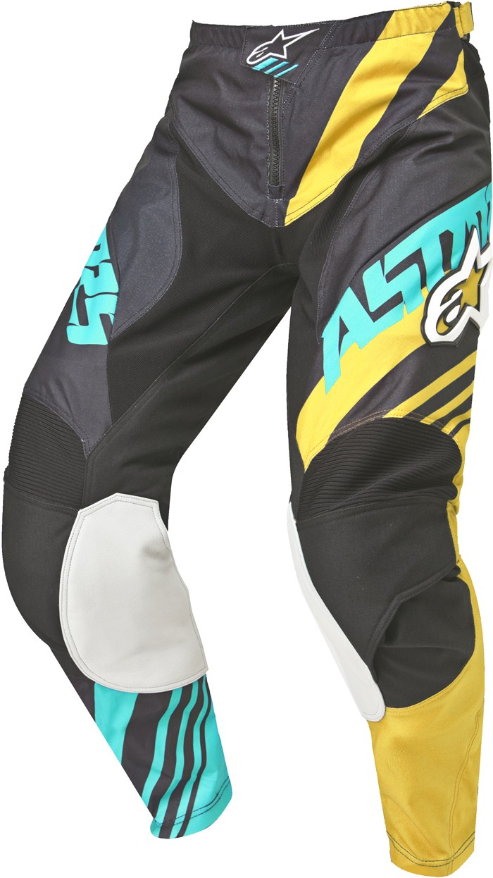 Alpinestars Racer Supermatic pants cross Black Yellow Teal