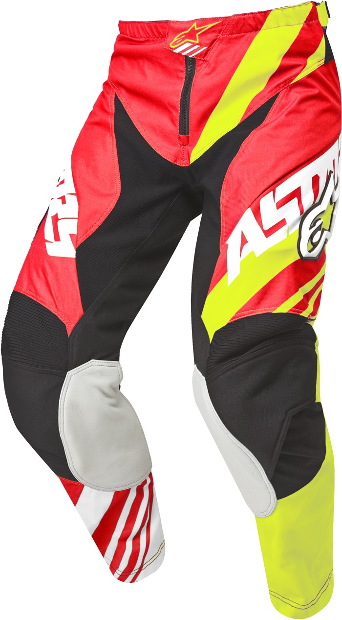 Alpinestars Racer Supermatic pants cross Red Yellow White