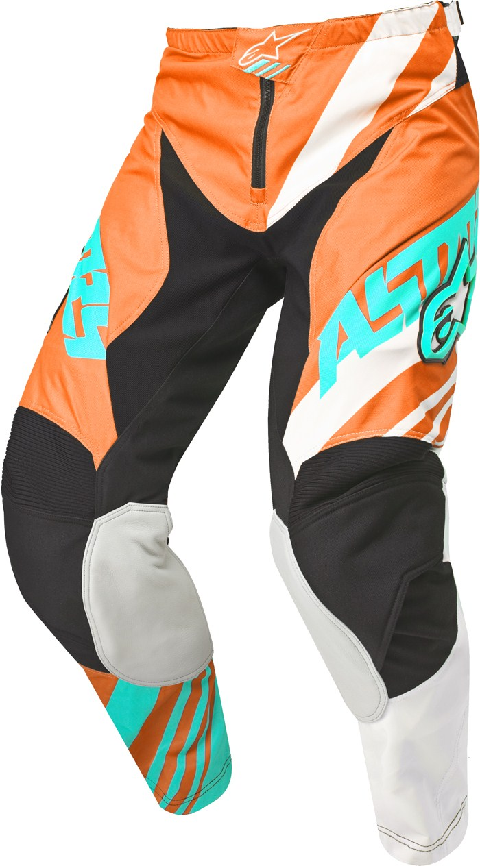Alpinestars Racer Supermatic pants cross Orange White Teal