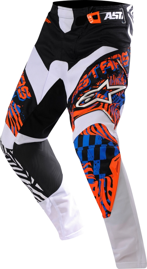 Pantaloni cross bambino Alpinestars Youth Charger arancio-blu