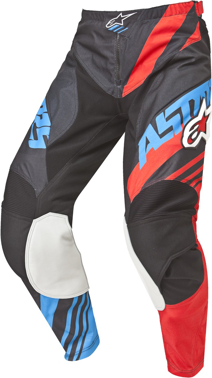 Alpinestars Youth Racer Supermatic cross pants Black Red Blue