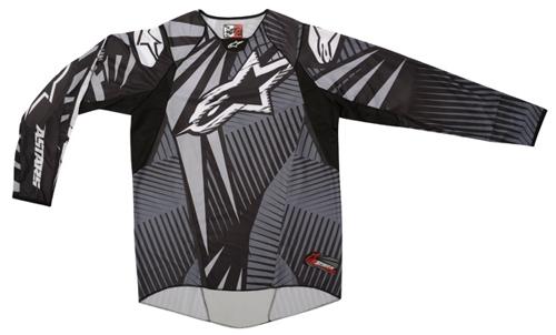 Alpinestars techstars off-road jersey cool gray-black