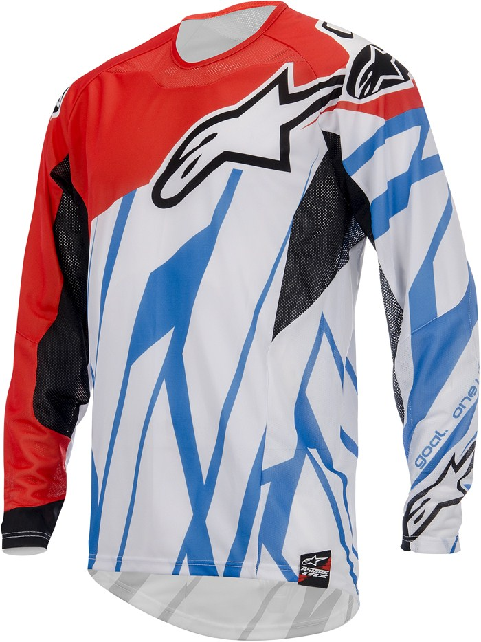 Alpinestars Techstar cross jersey Red Blue White