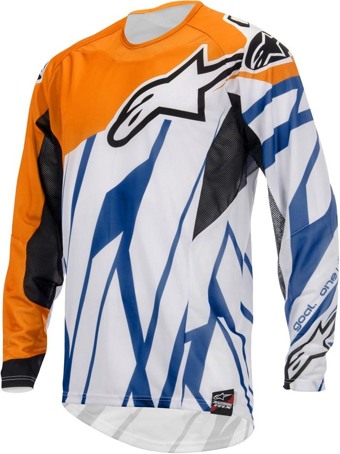 Alpinestars Techstar cross jersey Orange White Blue