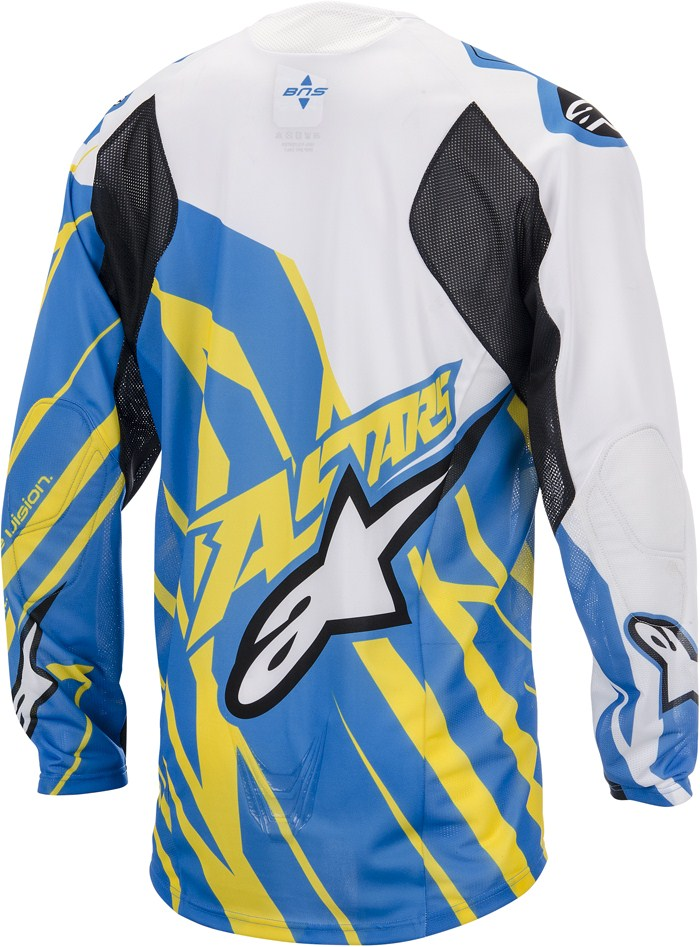 Alpinestars Techstar cross jersey Blue Yellow White