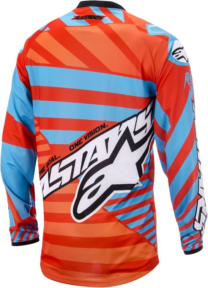 Maglia cross Alpinestars Racer Braap Rosso Arancio Blu