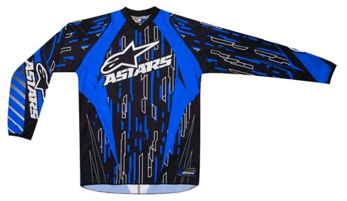 Maglia cross Alpinestars Racer blu-nero-bianco