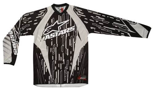 Maglia cross Alpinestars Racer grigio-nero-bianco