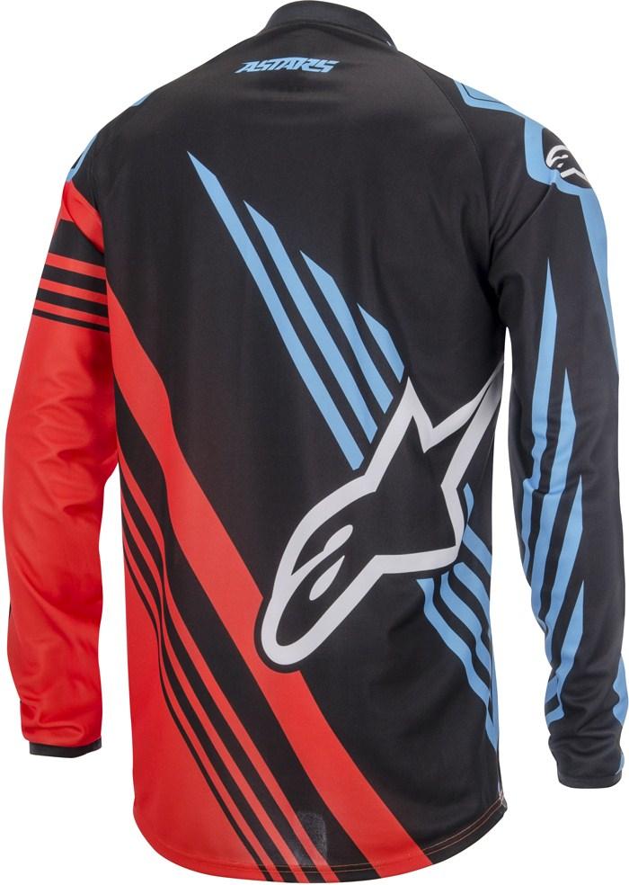 Maglia cross Alpinestars Racer Supermatic Nero Rosso Blu