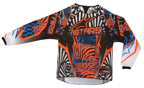 Alpinestars Youth Charger off-road jersey orange-blue-black