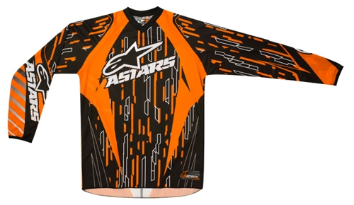 Alpinestars Youth Racer off-road jersey orange-black-white