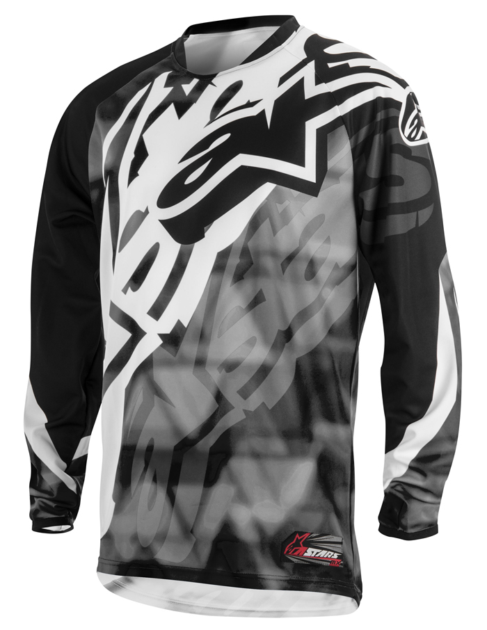 Jersey cross Alpinestars Racer Gray Black