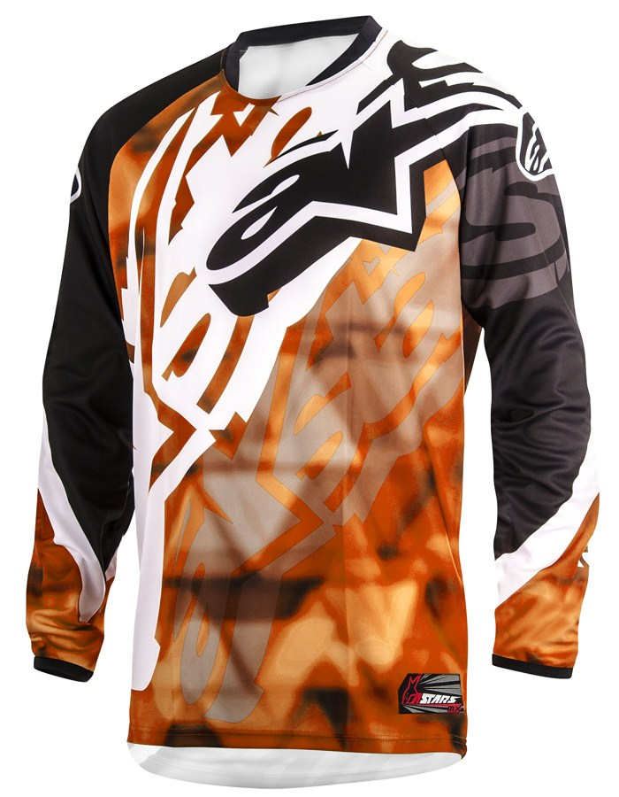 Cross Alpinestars Racer Jersey Orange Black