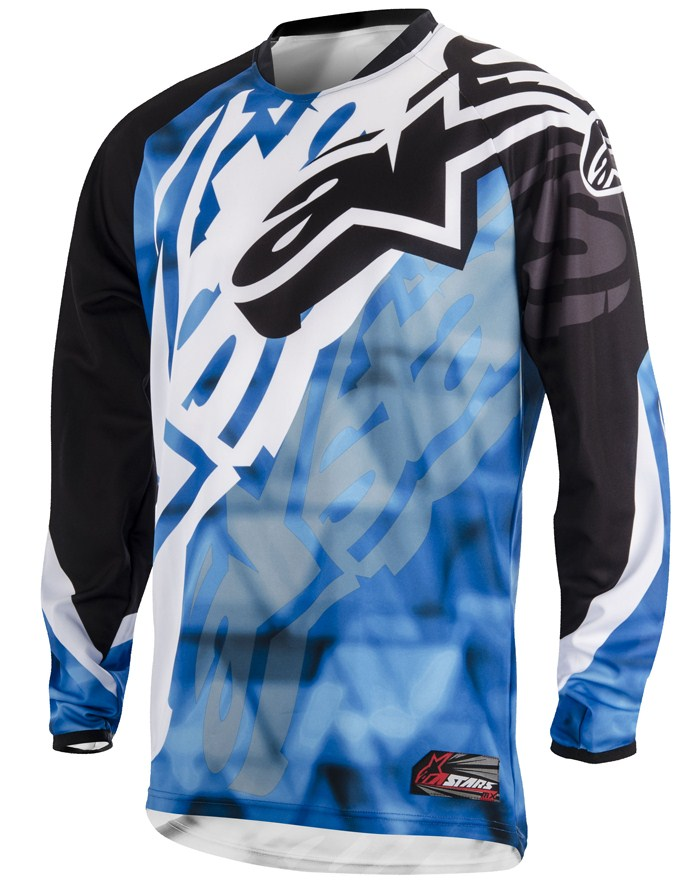 Jersey Alpinestars Racer Cross Blue Black