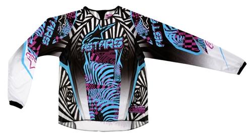 Alpinestars Stella Charger women off-road jersey sky-violet-blac