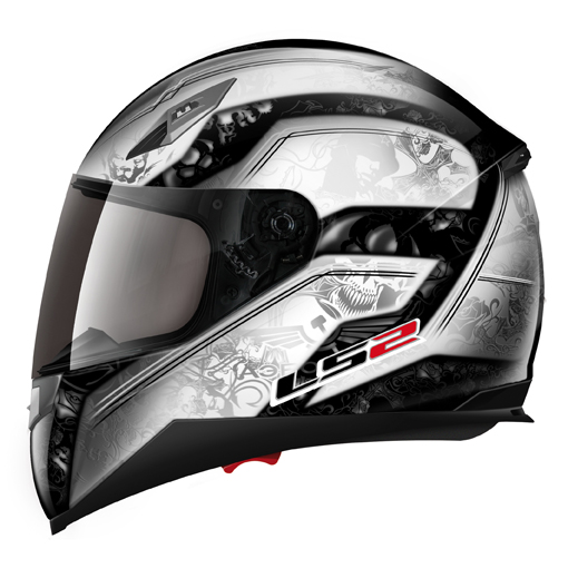 LS2 FF384 Armory full face helmet White-Black
