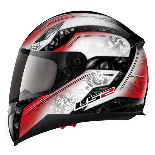 LS2 FF384 Armory full face helmet White-Red