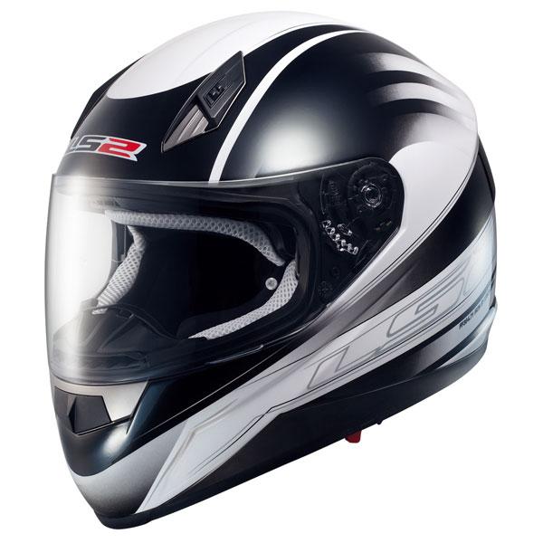 Motorcycle helmet full LS2 FF384 Black White Iron