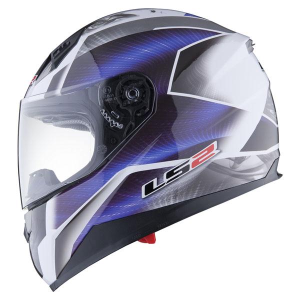 Motorcycle helmet full LS2 FF384 Saga White Blue