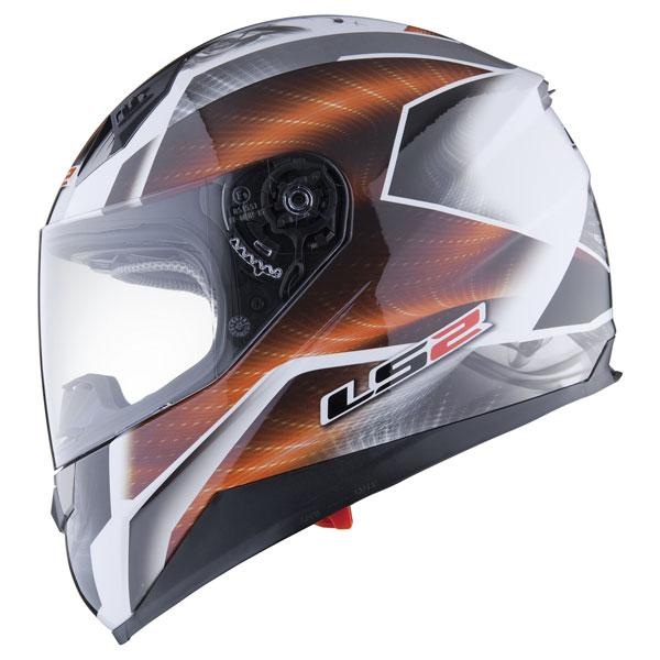 Motorcycle helmet full LS2 FF384 Saga White Orange