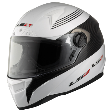 LS2 FF385 CR1 Pilot full face helmet White-Carbon
