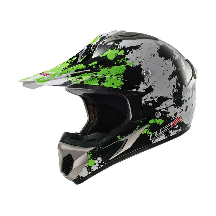 Cross helmet LS2 MX433 Blast White Black Green