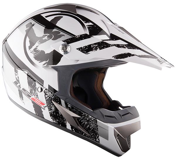 Cross helmet LS2 MX433 Stripe White Black