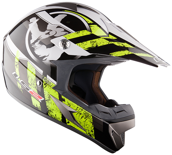 Cross helmet LS2 MX433 Stripe Black Yellow fluo