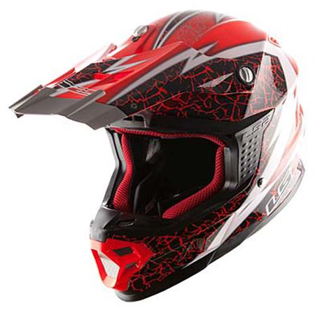Red Cross helmet LS2 MX456 Craze