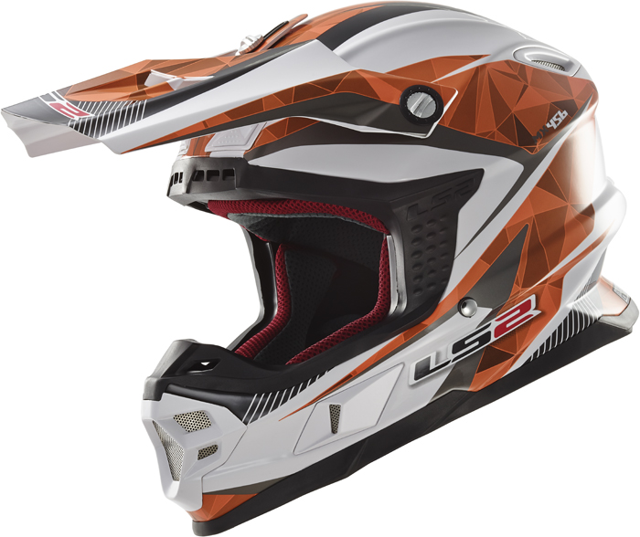 Ls2 MX456 Light Quartz cross helmet White Orange