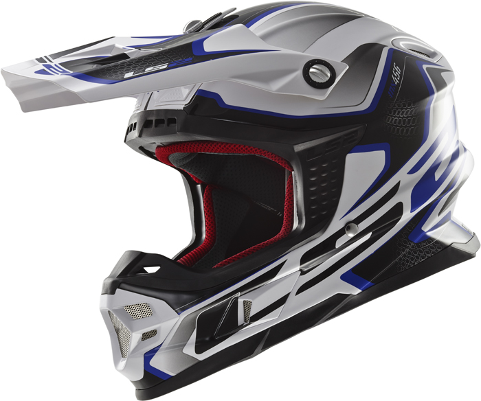 Ls2 MX456 Light Compass cross helmet White Blue