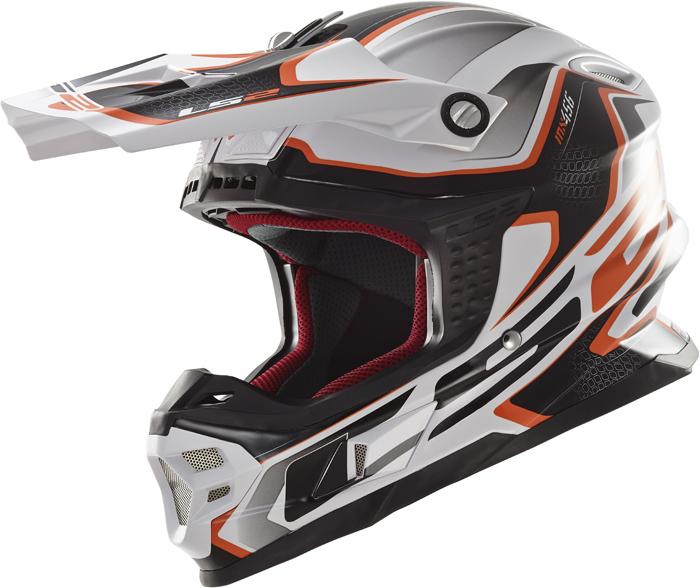 Ls2 MX456 Light Compass cross helmet White Orange
