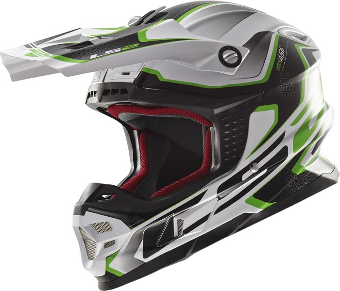 Ls2 MX456 Light Compass cross helmet White Green