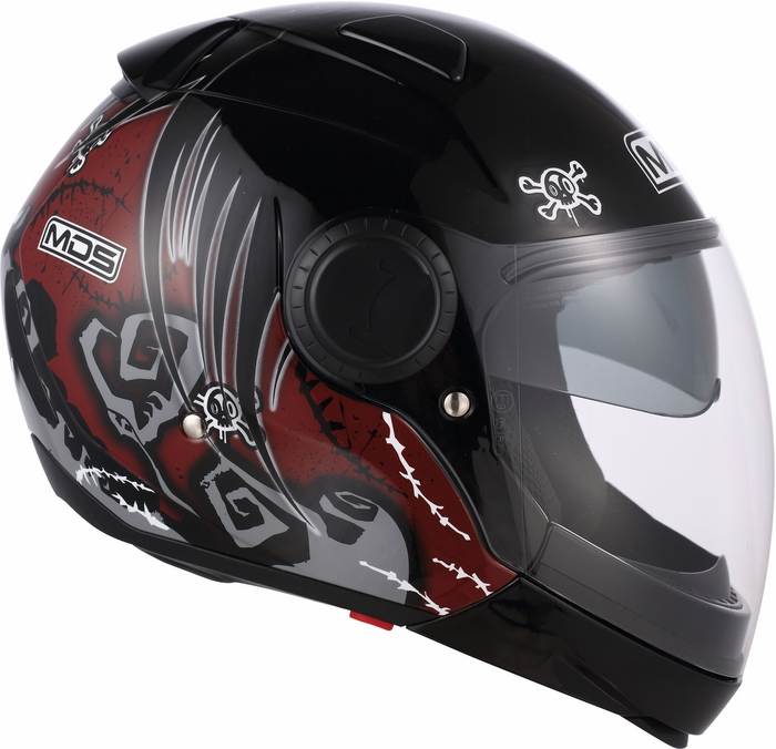 Casco moto Mds by Agv Sunjet Multi Tuft rosso