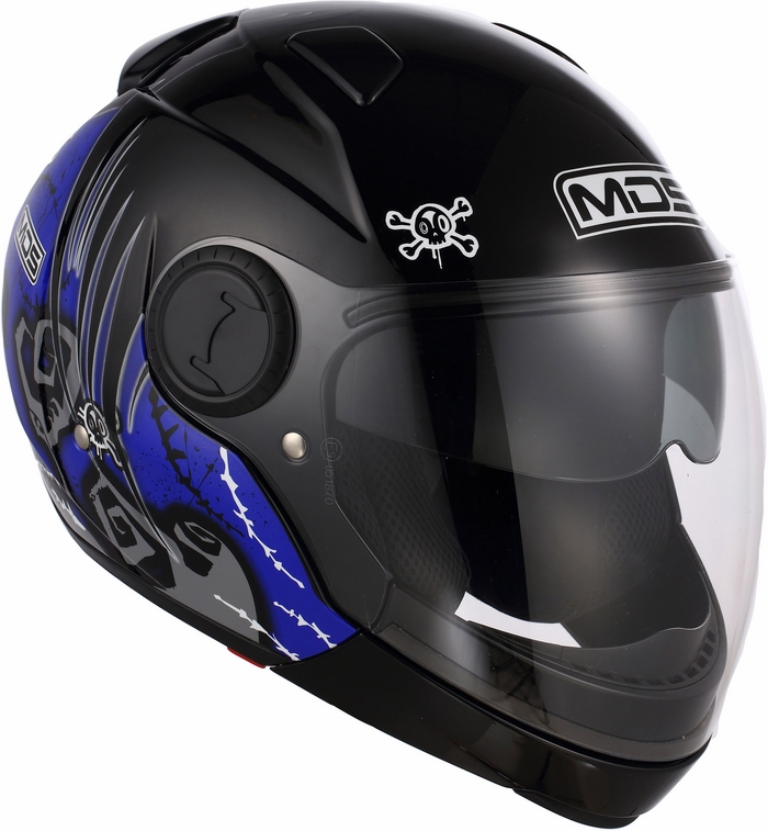 Casco moto Mds by Agv Sunjet Multi Tuft blu