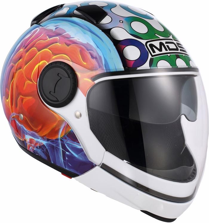 Mds by Agv Sunjet Multi Brainstorm helmet white