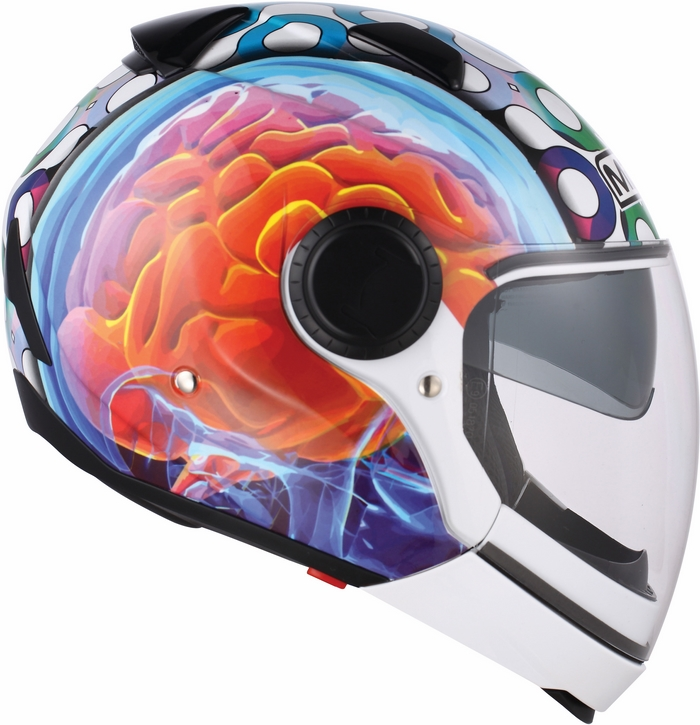Casco moto Mds by Agv Sunjet Multi Brainstorm bianco