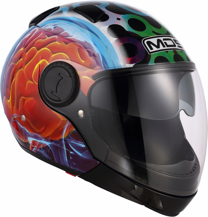 Casco moto Mds by Agv Sunjet Multi Brainstorm nero
