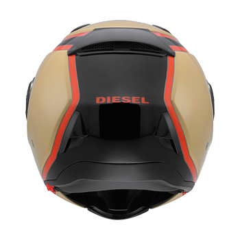 Diesel New Jack 70S flip off helmet Sandy Black Orange