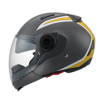 Diesel New Jack 70S flip off helmet Gunmetal Yellow White