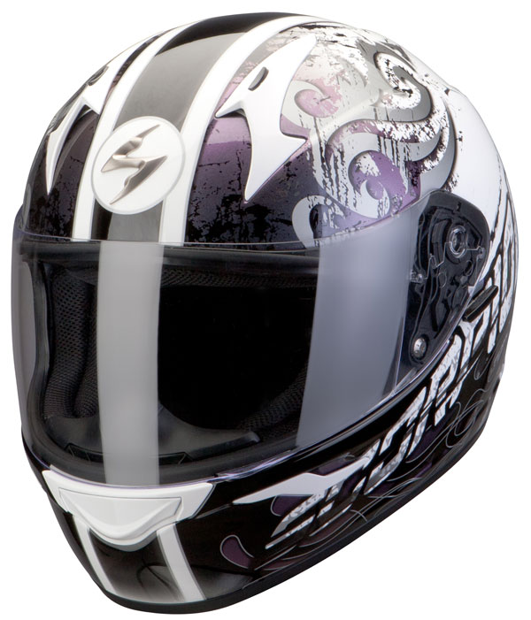 Casco integrale Scorpion Exo 410 Sprinter Bianco Camaleonte