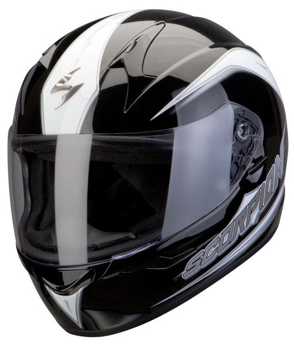Casco integrale Scorpion Exo 410 Glide Nero Bianco