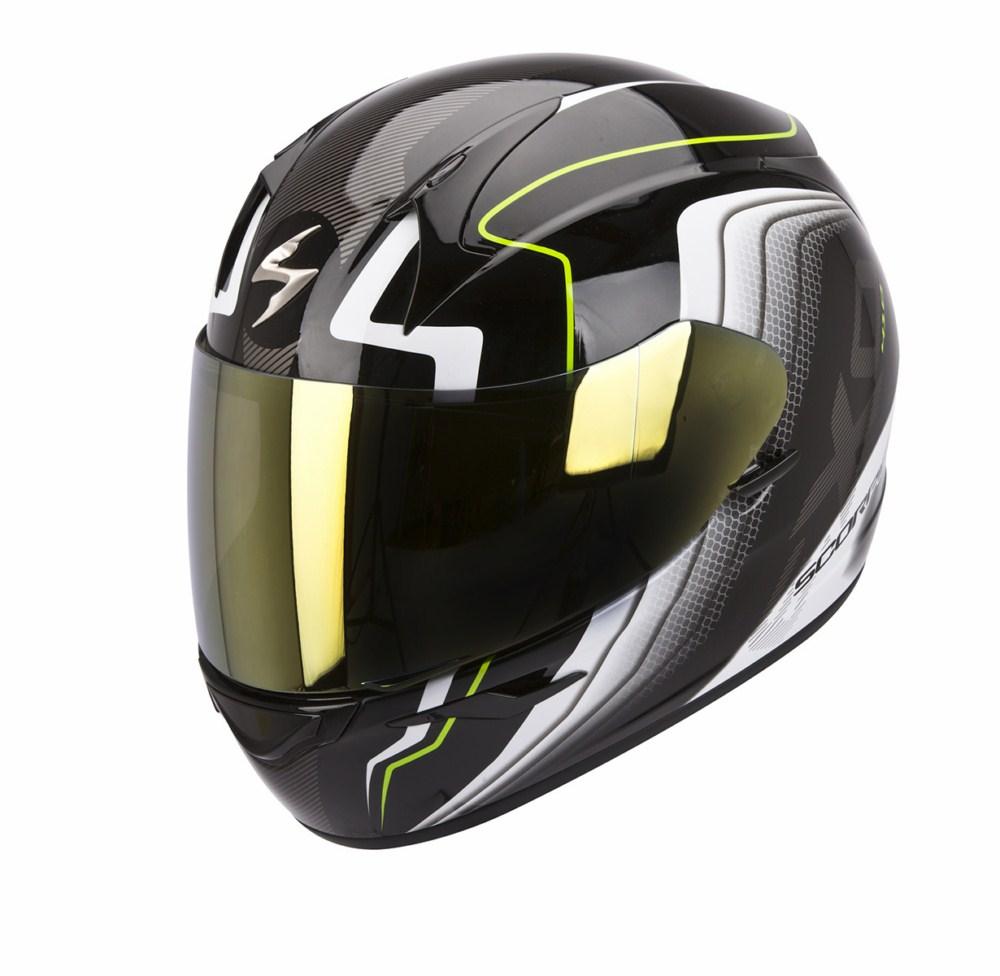 Scorpion Exo 410 Air Altus full face helmet black white