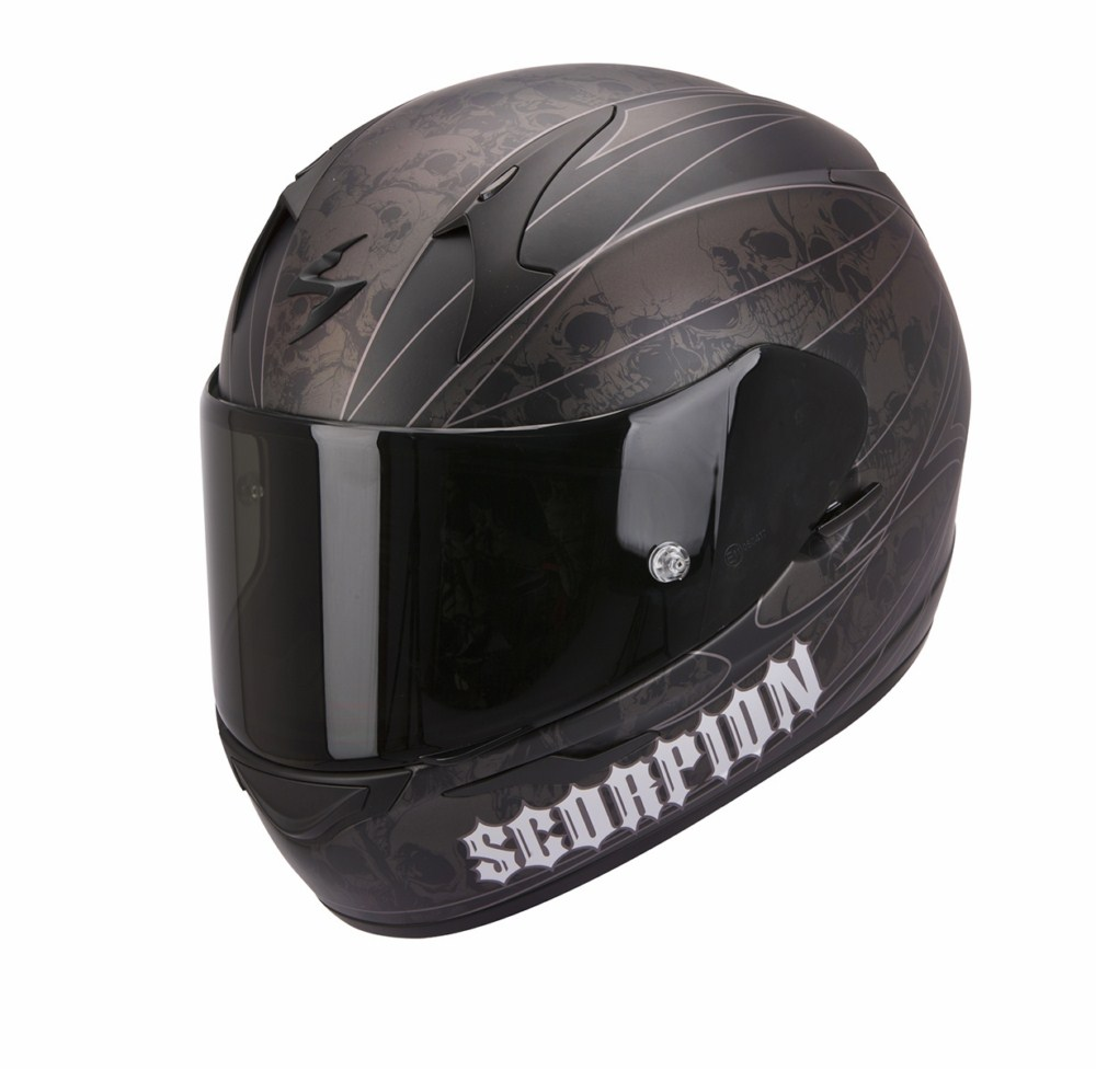 Scorpion Exo 410 Air Underworld full face helmet black silver