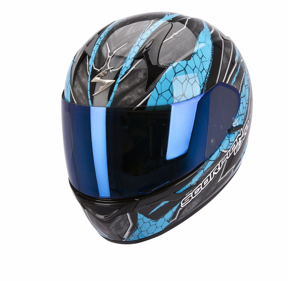 Scorpion Exo 410 Air Rad full face helmet black blue