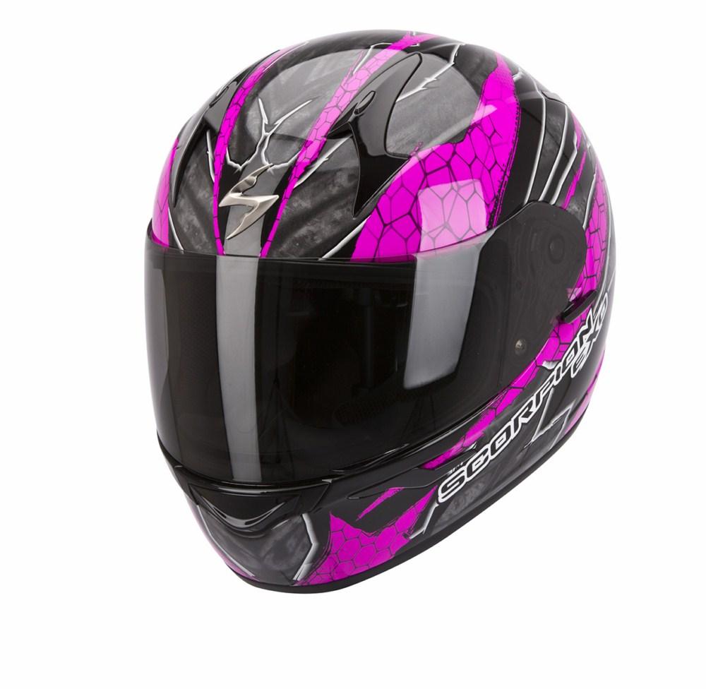 Scorpion Exo 410 Air Rad full face helmet black pink