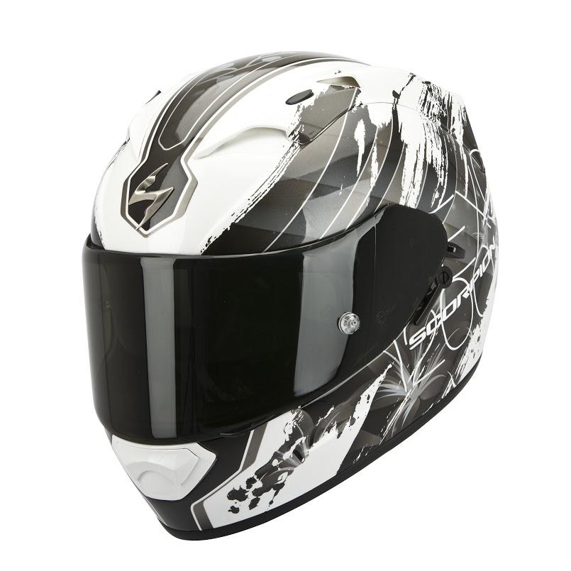 Scorpion Exo 1200 Air Lilium full face helmet white silver