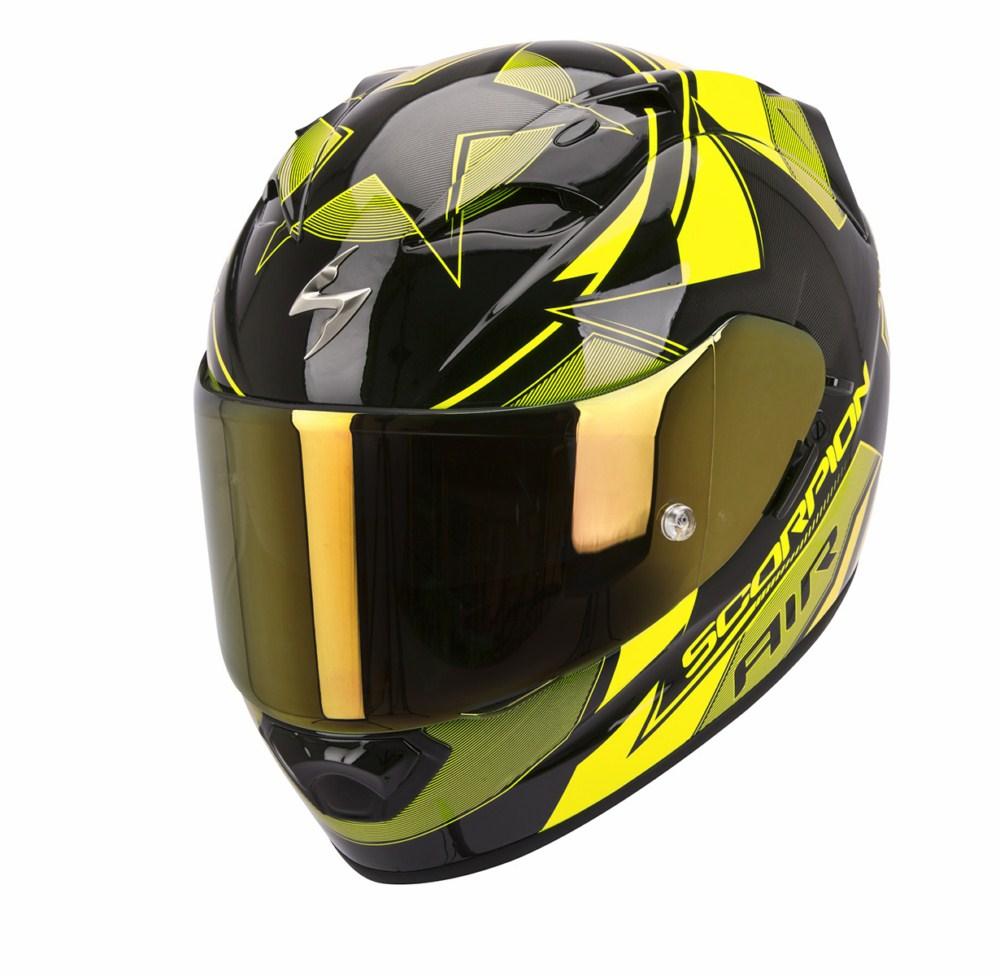 Scorpion Exo 1200 Air Stella full face helmet black yellow